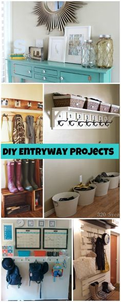 DIY Entryway Projects • Budget projects and tutorials on creating an organized entry for your home!