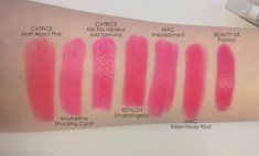 Mateja's Beauty Blog: Mac's Impassioned, Revlon Unapologetic, Beauty UK Passion, Mac Relentlessly Red. Comparisons, Swatches, Dupes