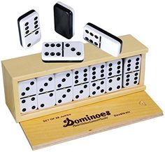 Dominoes Double 6, Tournament Size, Two Toned with Spinne... https://www.amazon.com/dp/B00YJYPLG6/ref=cm_sw_r_pi_dp_pRvLxbY86401D