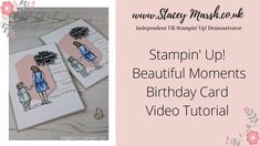 Video Tutorial for Birthday Card made using Beautiful Moments Stamp Set from Stampin' Up! Images O, Birthday Cards, Happy Birthday, Beautiful Moments, Stampin Up, Card Making, In This Moment, Make It Yourself, Facebook