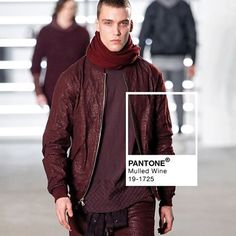 Mulled Wine hues graced the runway during NY Men