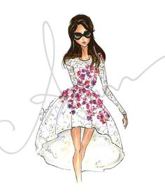 Mode-Illustration Grafik Giambattista Valli 8 x 10 von anumt