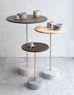 FURNITURE | CAFE TABLE | BDDW  interior design, side table, wood, metal, marble, minimalist, contemporary, modern