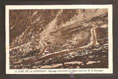 Carretera del Port de la Bonaigua  Núm. 12. Port de la Bonaigua. Zig-zags remuntant la ribera resclosa de la Bonaigua.