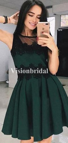 Classy Green Homecoming Dresses With Black Lace, Freshman Homecoming Dresses, Freshman Homecoming Dresses, Green Homecoming Dresses, Two Piece Homecoming Dress, Prom Dresses, Long Sleeve Backless Dress, Chic Fall Fashion, Dream Dress, Classy, Evening Dresses