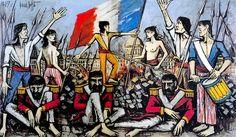 Bernard BUFFET ( 1928 - 1999 )   La prise des Tuileries - 1977