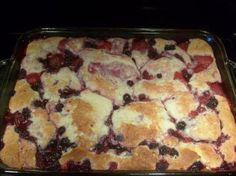 Made this tonight, it is the Best cobbler I've ever had!  I used frozen mixed berries (blackberries, raspberries, & blueberries)