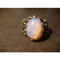 Victorian Style Fire Opal Filigree Ring