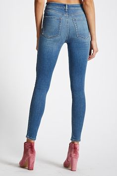 Sculpted High-Rise Skinny Jeans