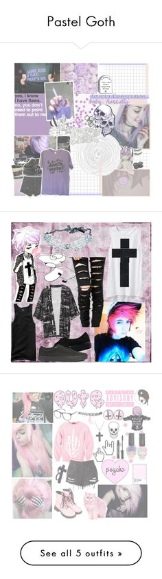 """Pastel Goth"" by mew-pudding ❤ liked on Polyvore"
