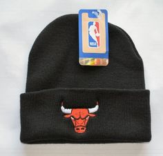 "Chicago Bulls Black ""Logo Only"" Beanie Hat - NBA Cuffed Cap by NBA. $9.08"