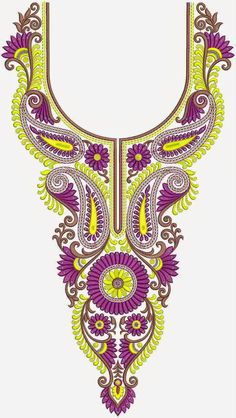 zimbabwe fashionable clothing embroidery neck designs, monaco culture neck embroidery designs for pary wear dress, maxi dress, gujarati dress. Pearl Embroidery, Embroidery Neck Designs, Free Machine Embroidery Designs, Embroidery Dress, Embroidery Patterns, Collar Pattern, Neck Pattern, Tambour Beading, Wool Thread