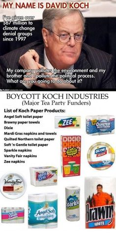 Also boycott Donald Trump the polluter, in words and products. He is dangerous for people and the environment