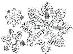 Afbeeldingsresultaat voor crochet snowflakes patterns