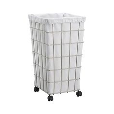 Wire Hamper with Wheels  | Crate and Barrel