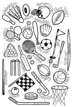 Image result for SPORTS doodles