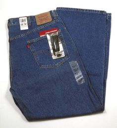 "Mens Levis Loose Straight 569 Denim Medium Blue Size 40"" x 32"" New #Levis #LooseStraight"