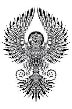 An apparel illustration exploration of a legendary phoenix