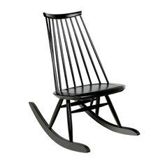 Artek   Mademoiselle Rocking Chair, Black Lacquered