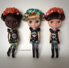 My trio dressed in the outfits and headpieces I made for them. | por queenbee2zz