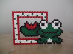 Frog Mini Photo Frame perler beads by FramedBits on Storenvy