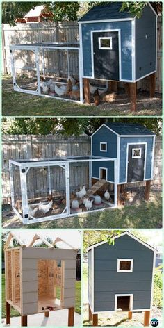 Chicken Coop - DIY Chicken Coops Plans That Are Easy To Build Building a chicken coop does not have to be tricky nor does it have to set you back a ton of scratch. Chicken Coop Designs, Chicken Coop Plans Free, Backyard Chicken Coop Plans, Small Chicken Coops, Chicken Barn, Easy Chicken Coop, Chicken Coup, Portable Chicken Coop, Building A Chicken Coop