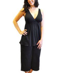 Look what I found on #zulily! Black Serenity Nursing Pajama Set #zulilyfinds
