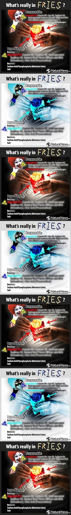 Visit Site For Info Without The Blur! ---- FIND OUT WHAT'S REALLY IN FRENCH FRIES!............................................................................................................................................ --- PLEASE PIN THIS TO YOUR BEST BOARD...... It's definitely worth it!!!