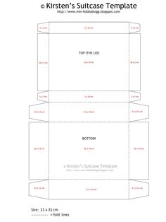suitcase template (for a suitcase out of craft paper) - kings. Templates Printable Free, Printables, Box Templates, Doll Crafts, Paper Crafts, Cardboard Suitcase, Cardboard Boxes, Coin Envelopes, Pillow Box