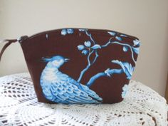 Bridal Wedding Clutch Cosmetic Bag  Purse  by Antiquebasketlady, $13.00