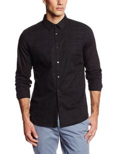Calvin Klein Men's Ombre Check Dobby Hidden Button Down Woven Shirt, Black, Large Calvin Klein http://www.amazon.com/dp/B00I94P4V4/ref=cm_sw_r_pi_dp_uNUFvb13Q2S5C