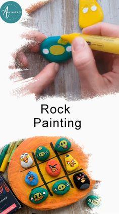 Pebble Painting, Pebble Art, Diy Painting, Stone Painting, Rock Painting Patterns, Rock Painting Designs, Paint Designs, Paint Pens For Rocks, Acrylic Paint Pens