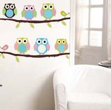 DIY removable Owl Birds Branch Vinyl Kids Mural Home Decor Wall...