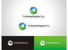 The Human Engine Clinic Medical Logo, Clinic, Engineering, Branding, Logos, Layout, Design, Brand Management, Page Layout