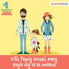 Isn't that true now? Celebrate togetherness in style this festive season! Put on your best clothes and wear your best attitude for every occasion.  Include us in your plans as well. Share pictures and anecdotes with us. We would love to hear from all of you.  Joy is in being together this festive season. https://www.parentcircle.com/clip-book/4a4237038e/celebrating-togetherness/ #familyfirst #togetherness