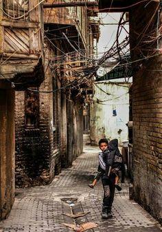 Viviendas tradicionales en un viejo barrio bagdadí.