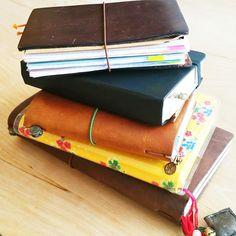 Midori Traveler's Notebook Passport Size- Daily Planner Setup / Seaweed Kisses