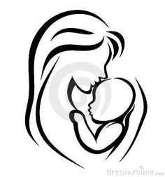 Royalty Free Stock Photography: Mother and baby symbol. Image: 24140697