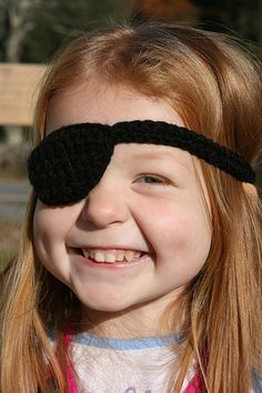 Crochet Pirate Eye Patch - Tutorial ❥ 4U // hf