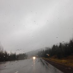 Take long drives on rainy days.
