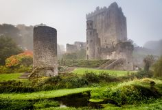 Blarney Castle in the fog