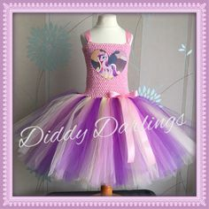 Princess Cadance Tutu Dress. Beautiful & lovingly handmade.  All characters and colours available Price varies on size, starting from £25.  Please message us for more info.  Find us on Facebook www.facebook.com/DiddyDarlings1 or our website www.diddydarlings.co.uk