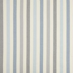 John Lewis Penzance Stripe Furnishing Fabric, Blue at John Lewis Boys Curtains, Curtains Or Roman Blinds, Kitchen Curtains, John Lewis, Blue Striped Curtains, Blinds For You, Chintz Fabric, Cottages And Bungalows, Stripes