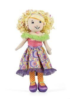 Manhattan Toy Groovy Girls dolls, Lakinzie. Lakinzies favorite color is purple and her favorite animals are horses.  She is from Minneapolis, Minnesota. RSVP stands for Respect, Self-expression, Values and Play, perfect for your growing girl. Comes with an exclusive web access code. Inspires fun, creative play in your young child.