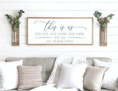 Home sweet home sign wood framed sign home wall decor image 0 Family Wood Signs, Wood Signs For Home, Family Name Signs, Home Decor Signs, Family Wall, Wooden Signs, Family Room, Family Pics, Above Couch Decor
