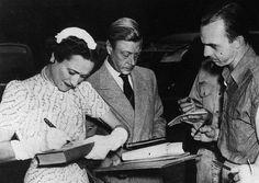 ". King Edward VIII ""David"" (Edward Albert Christian George Andrew Patrick David) (1894-1972) Prince of Wales UK & wife Wallis Simpson (Bessie Wallis Warfield-Spencer-Simpson) (1896-1986) USA, Duke & Duchess of Windsor."