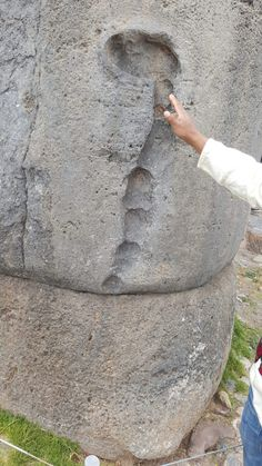 a 7 segment snake carved into the Rock that again was associated with the chakra system.