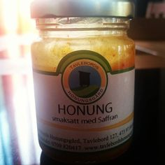 Fick burken från @kokoolle och @tailstomper med en supergod #honung med saffran. Mumsigt