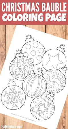 Christmas Bauble Coloring Page for Kids Trail Of Colors is part of Free christmas printables - This free printable Christmas Bauble Coloring Page is just perfect for your little ones when they start to decorate the Christmas tree Christmas Crafts For Kids, Christmas Baubles, Christmas Colors, Christmas Themes, Holiday Crafts, Christmas Holidays, Christmas Decorations, Cheap Christmas, Kids Christmas Activities