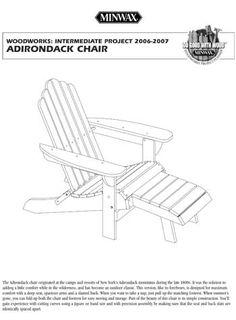 Minwax Adirondack Chair Plan